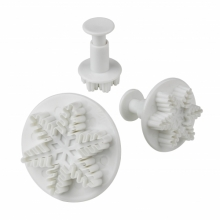 Plunger Snowflake cutters 3 Set
