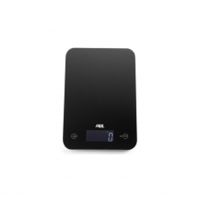 Slim black, digital kitchen scale, Max 5kg