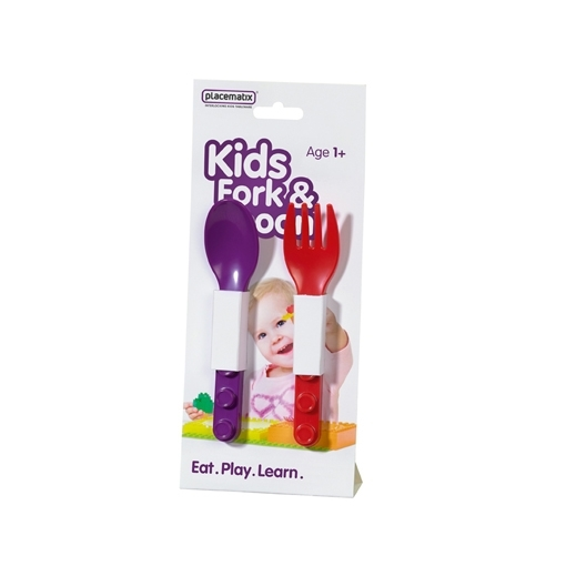 Kids cutlery set purple spoon