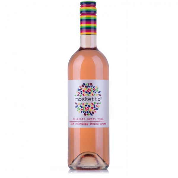 Mosketto, delicate sweet PINK, 100% Italian grapes  5,5% 75c