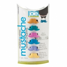 Jo!e Mustache Wine Charms 6 pc