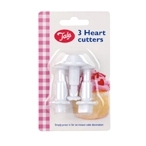 3 Pcs Heart Cutters