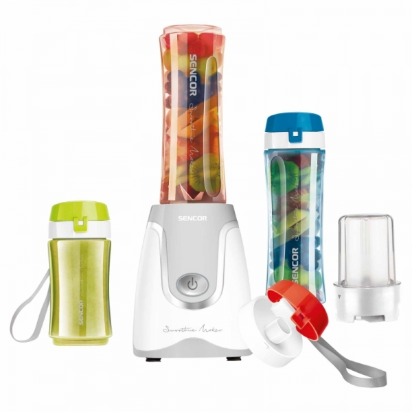 Smoothie Mixer med 2 flaskor 0,6l ok 1 flaska 0,3l