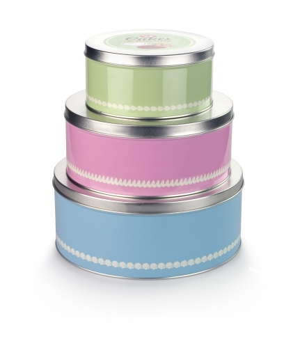 1960's Retro Cake Tins 3 Set
